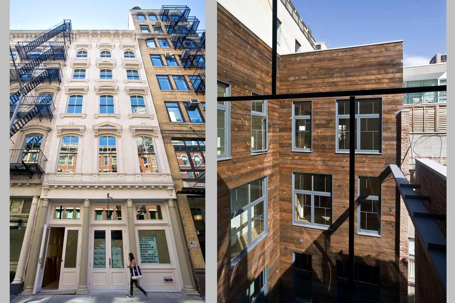 55 Warren Street contemporary renovation with a new full depth courtyard