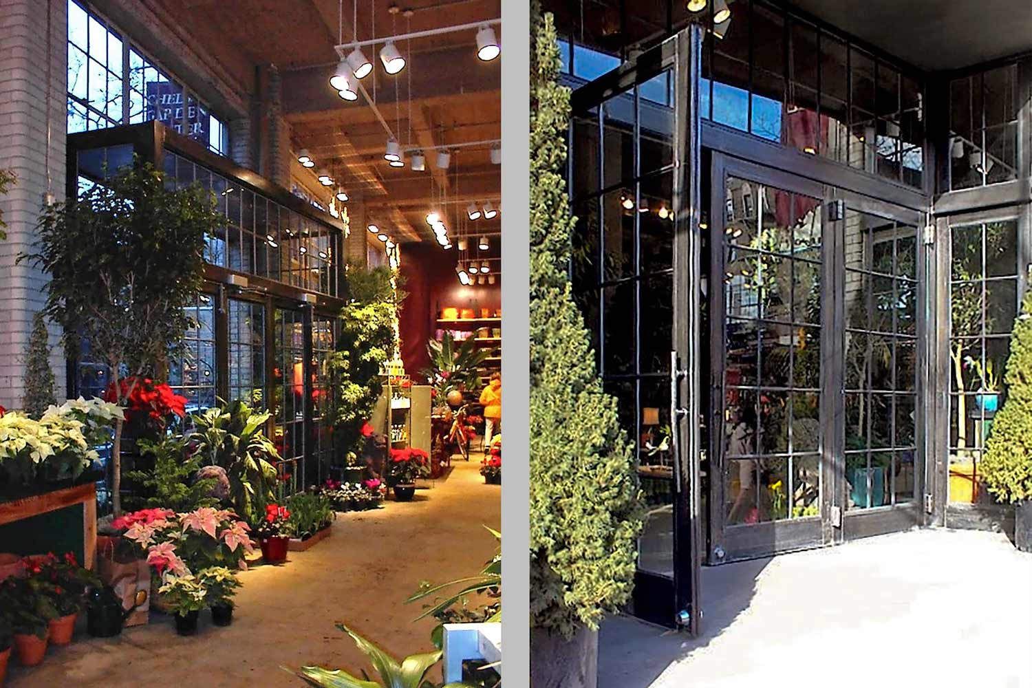 OCV's gut renovation of this raw industrial space resulted in a lavish retail garden center.