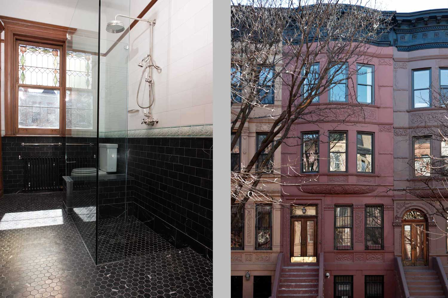 OCV Architects restored and renovated this historic Harlem brownstone after suffering from fire and water damage.