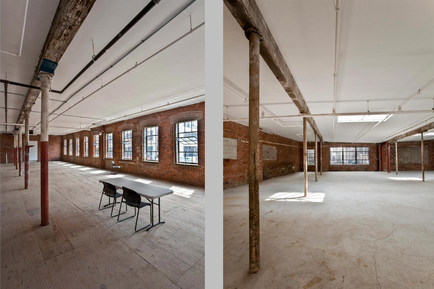 McKibbin Street Industrial Center workshops, renovation and historic preservation by OCV Architects.
