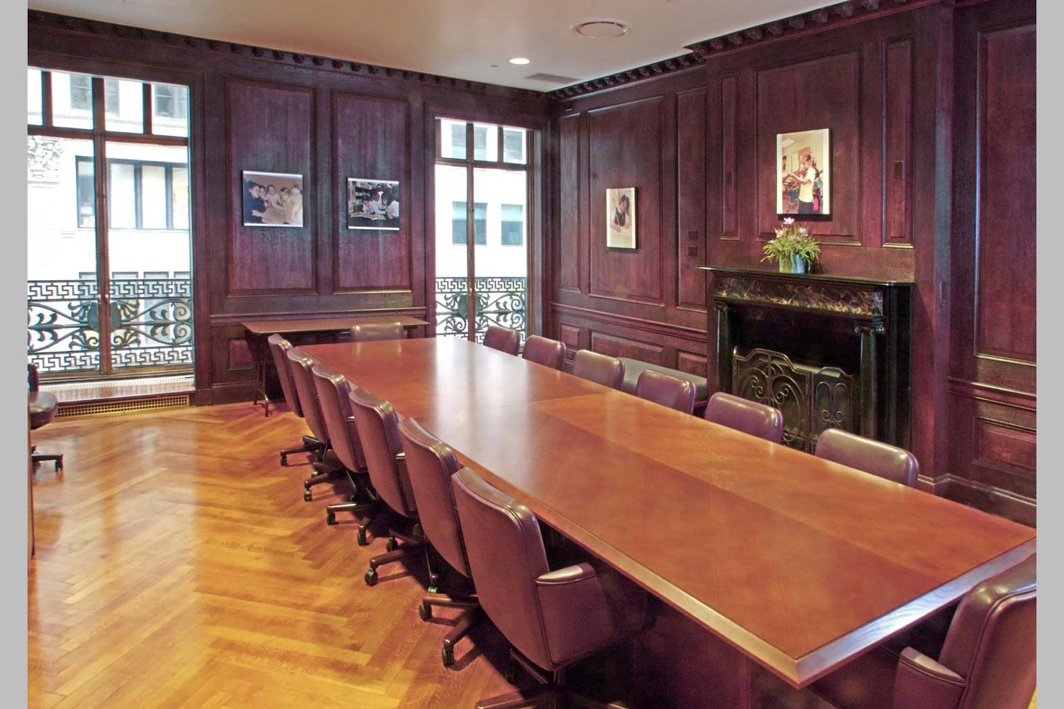 Conference room at the Claremont Prep School in lower Manhattan.