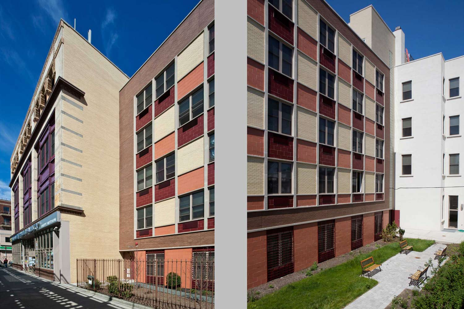 OCV transformed an abandoned four-story furniture warehouse and joined it to a five-story new construction addition.