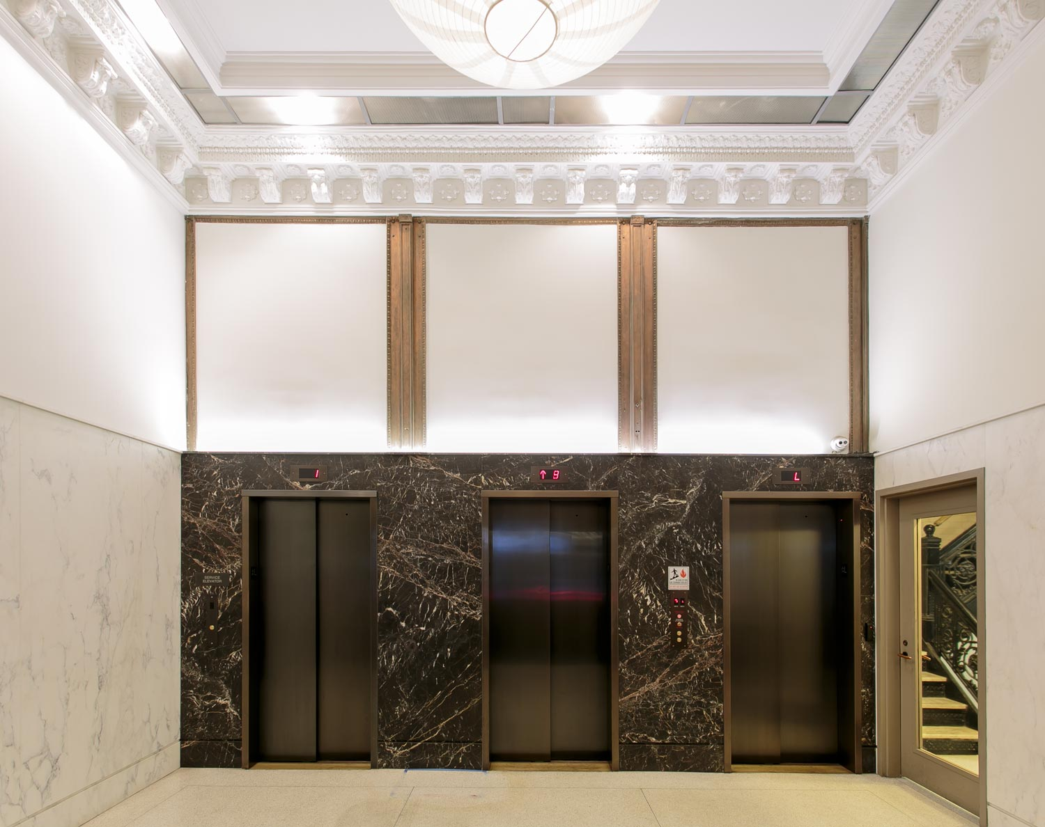 Renovation of this historic SoHo lobby on Broome Street in NYC