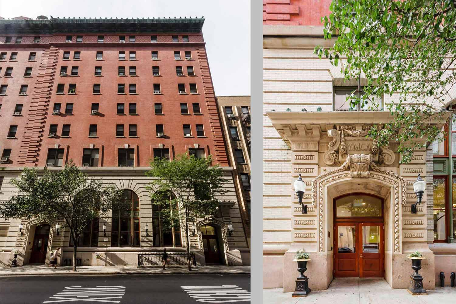 The former McBurney YMCA in NYC was transformed into housing for young adults and homeless individuals.