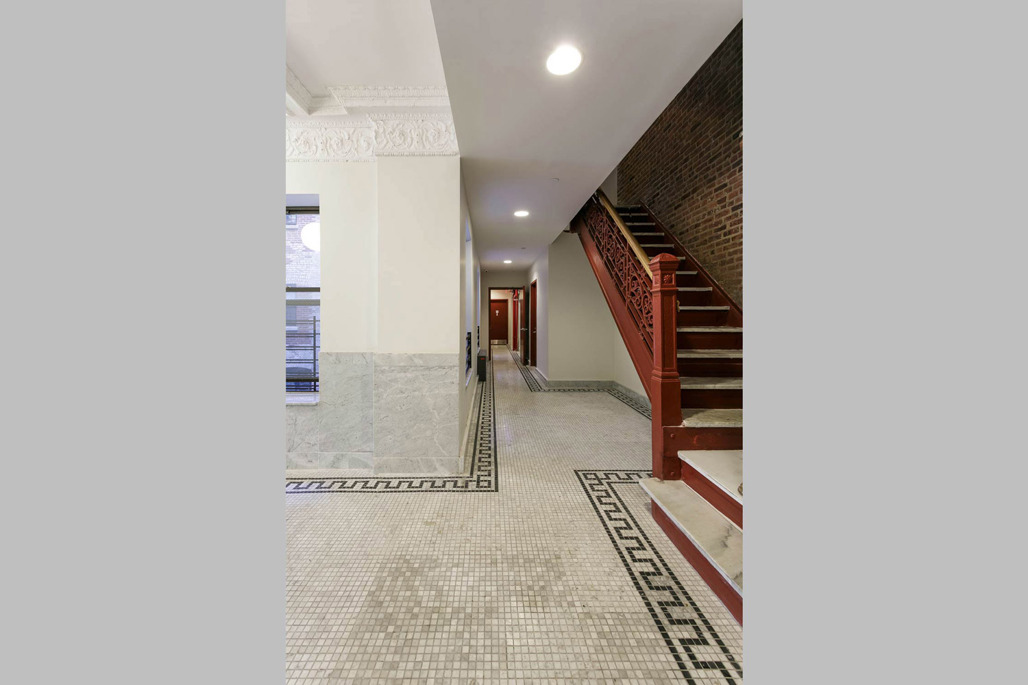 OCV executed a historic renovation of the lobby at this affordable housing building on St. Nicholas Avenue.
