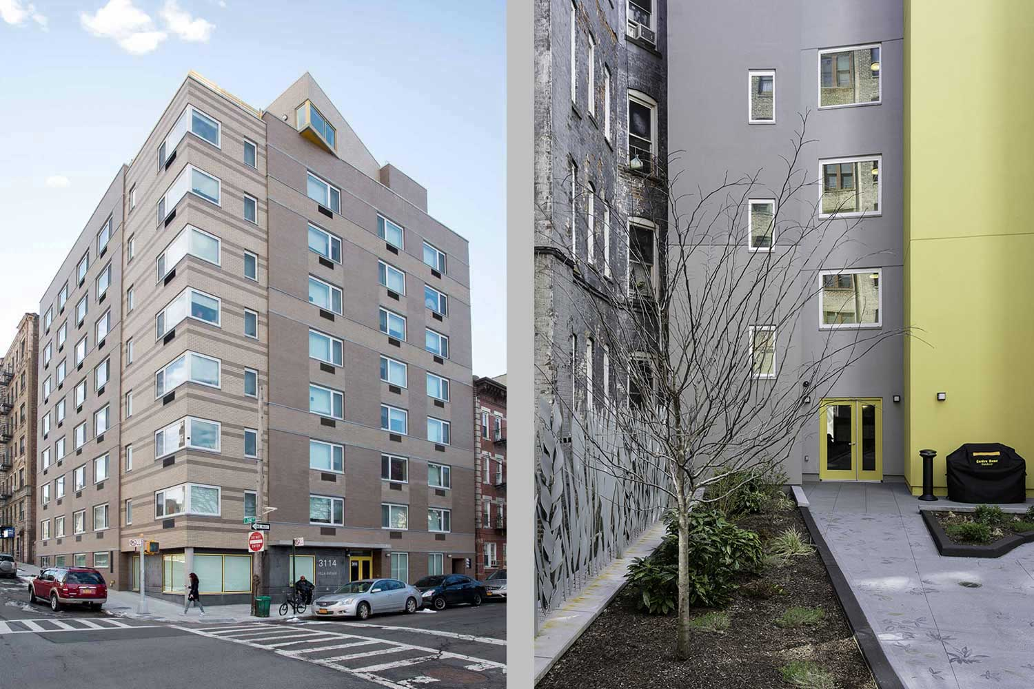 The Villa is a supportive housing new construction in the Bronx by OCV Architects.