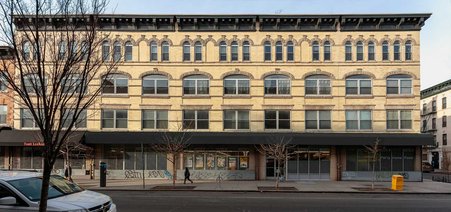 Located in Bushwick, the seven buildings date from the turn of the century to the 1930s.
