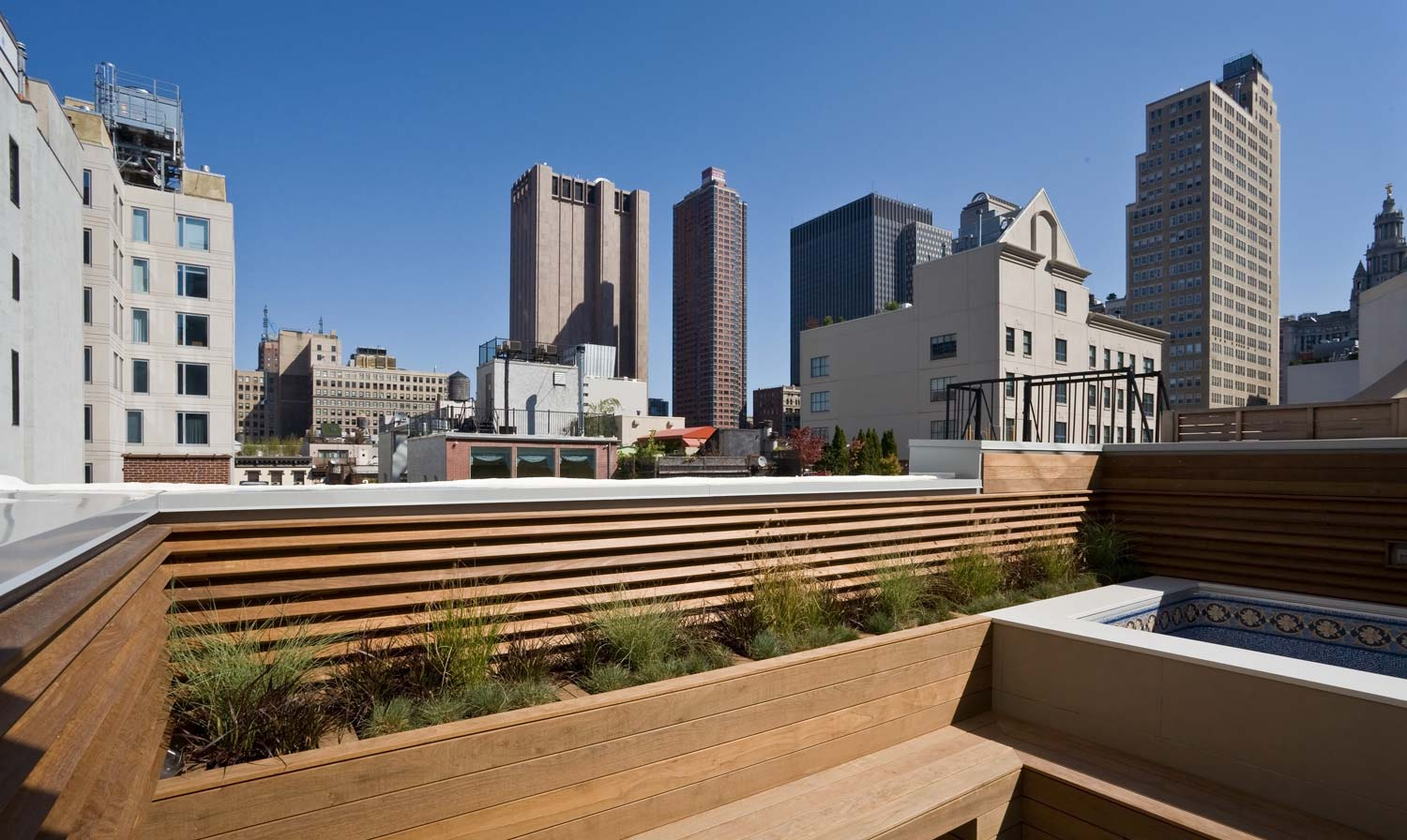 Tribeca duplex penthouse rooftop garden and spa
