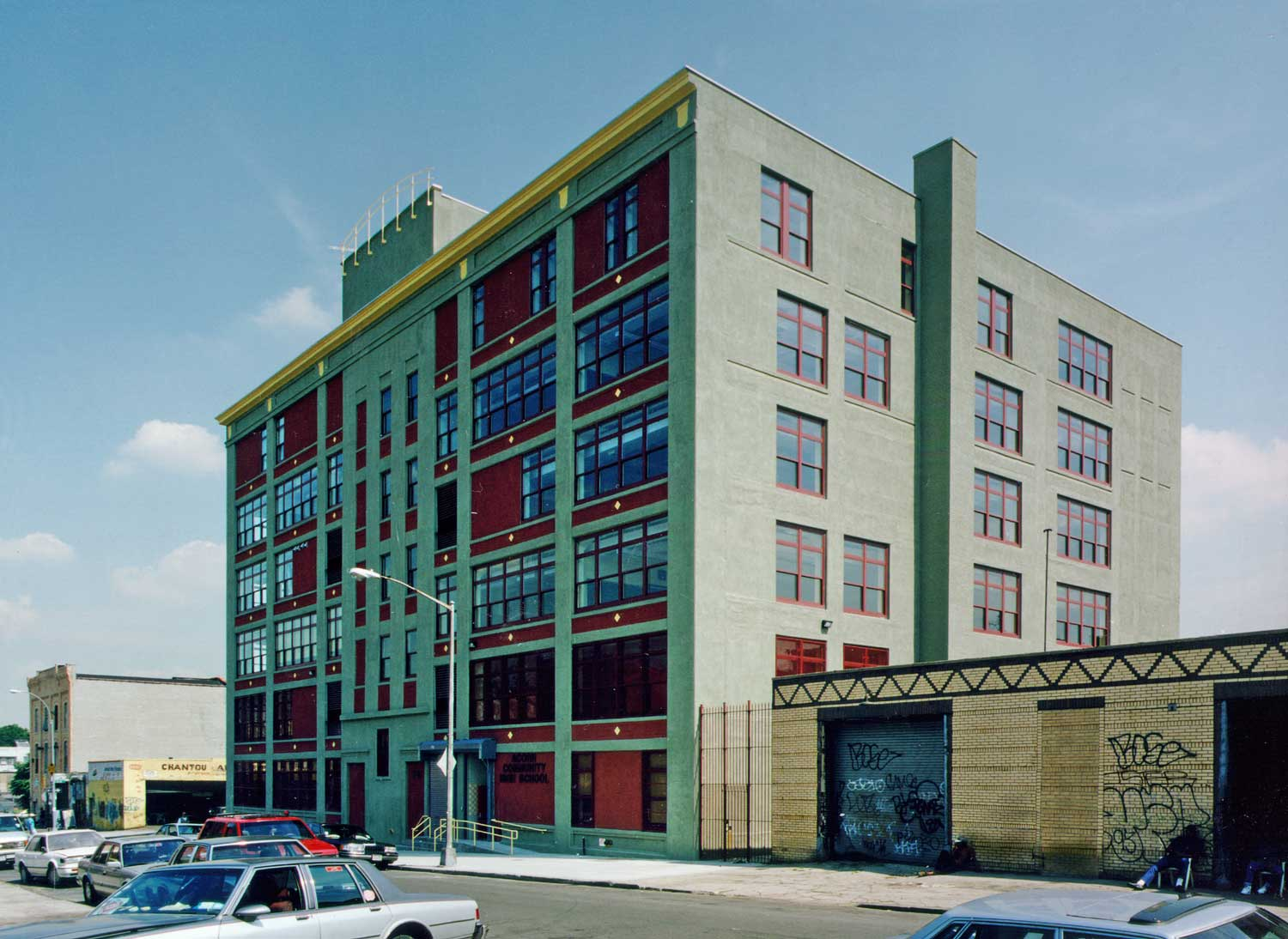 OCV Architects converted this former factory into a high school for 800 students.