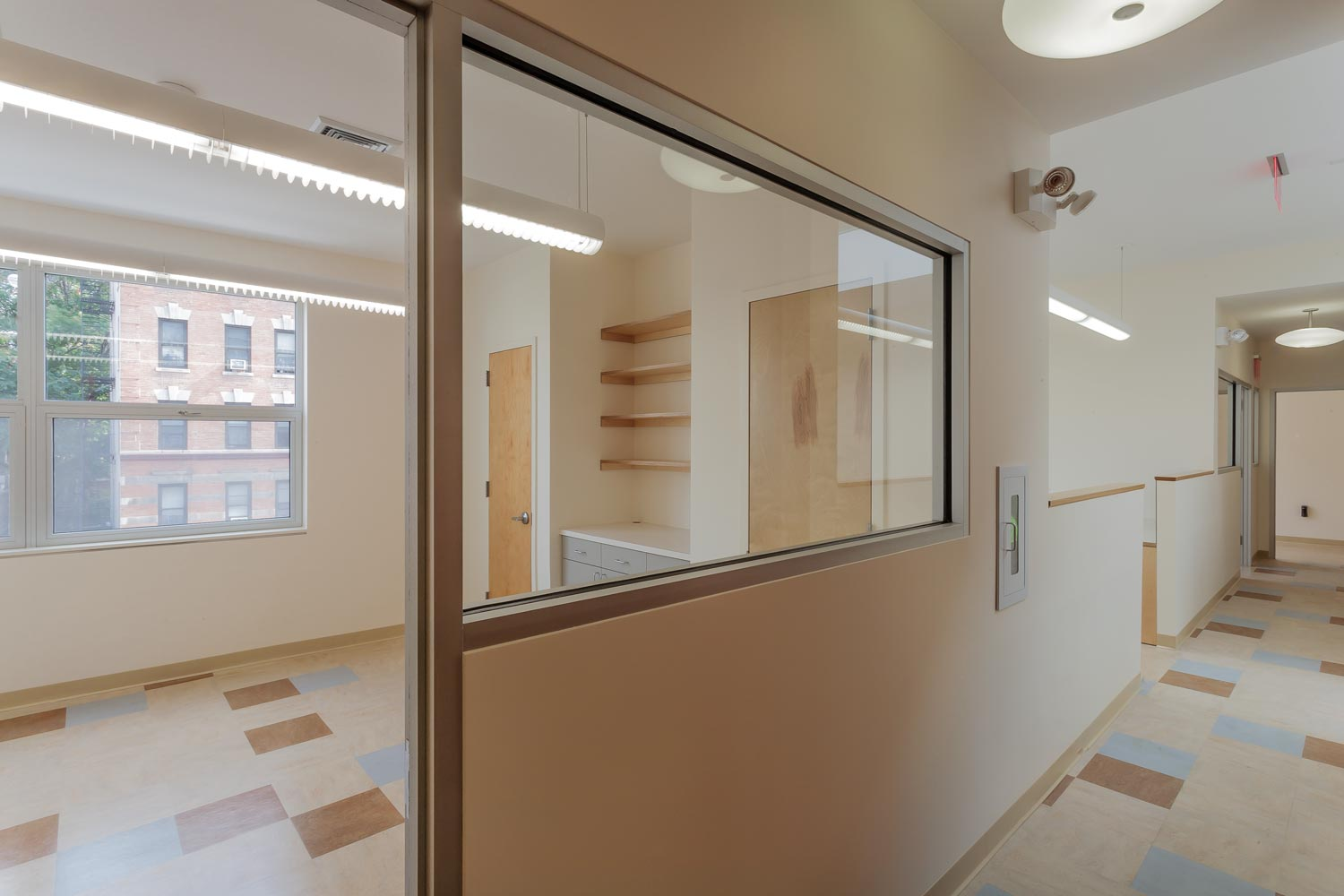 A second story expands the administrative offices of the non-profit BronxWorks.