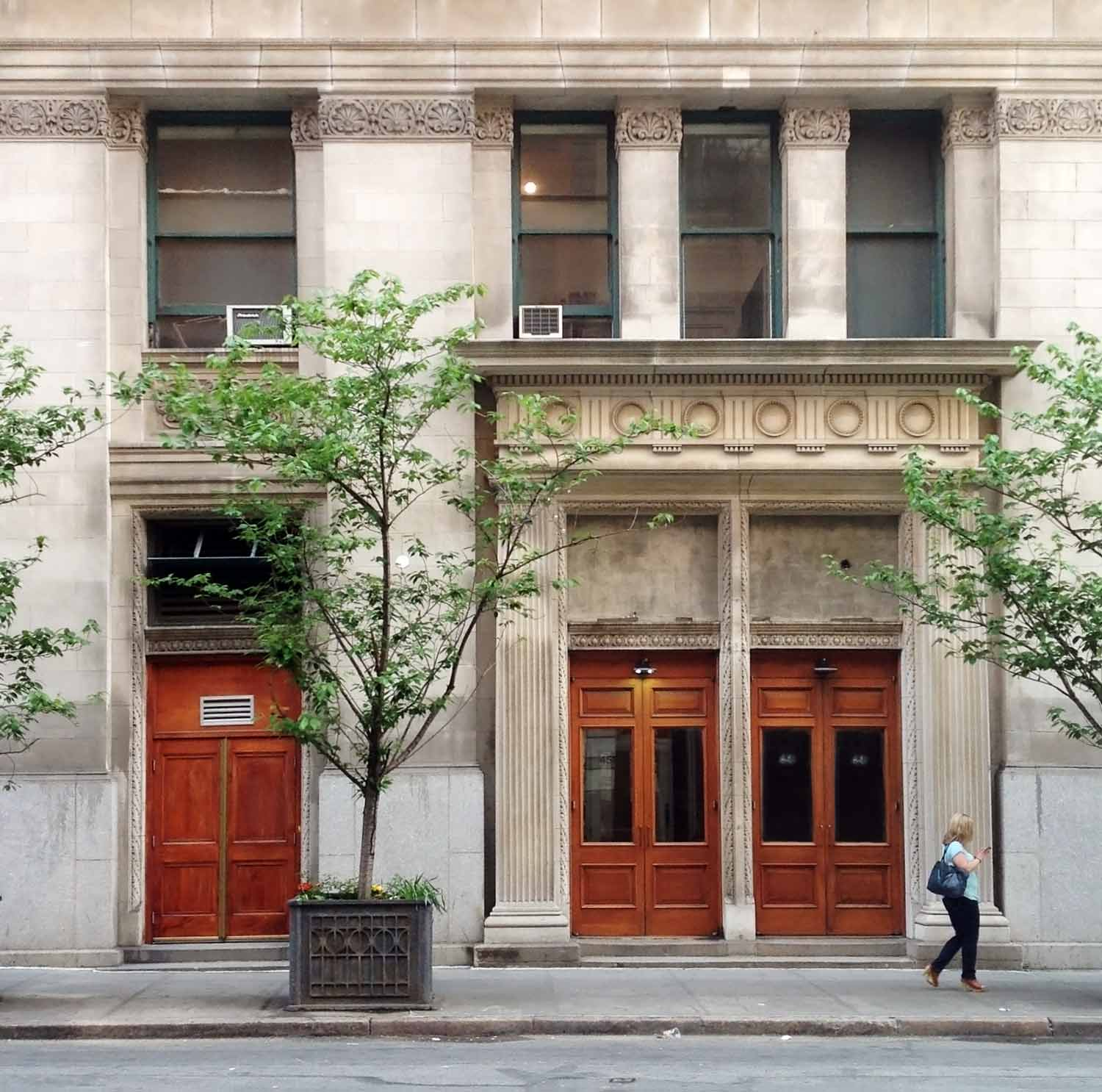 The historic lobby of this residential building on Broome Street was restored by OCV Architects