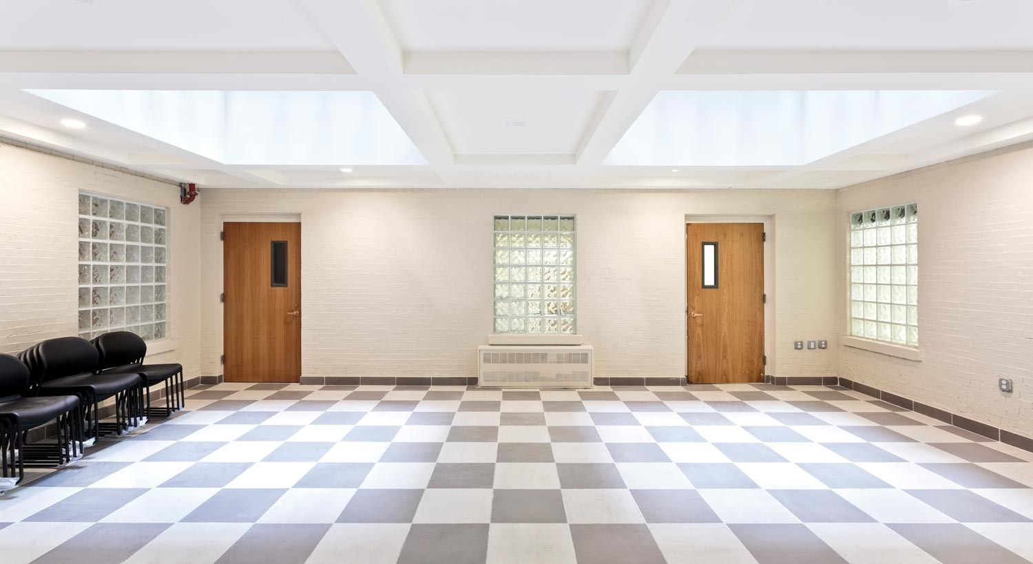 Capitol Hall's interior courtyard was repurposed and transformed into a new community room.