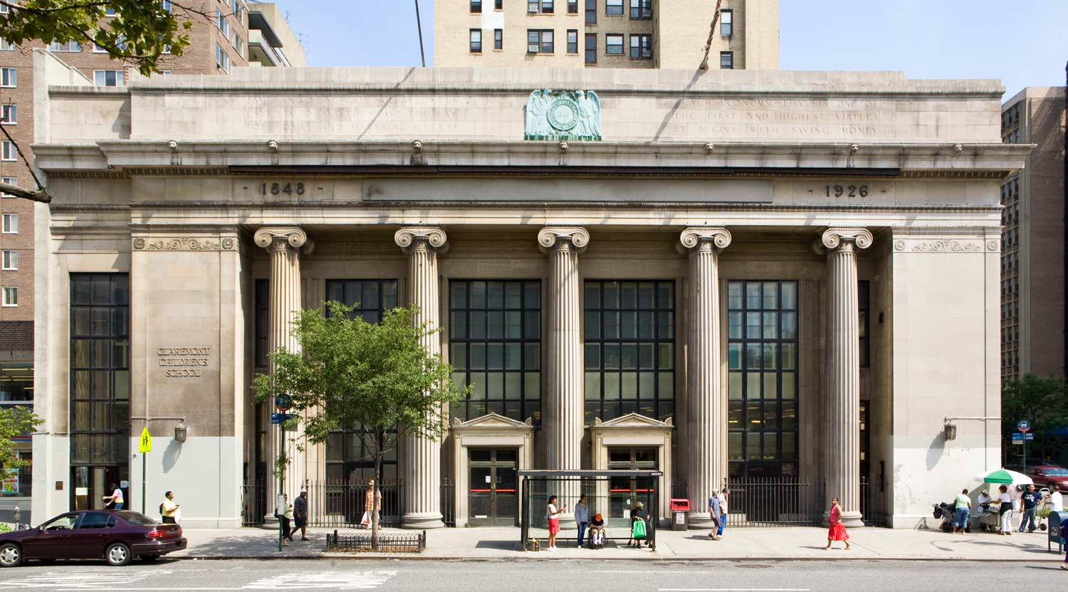 Conversion of a former bank to a new multi-level school on Manhattan's Upper West Side.