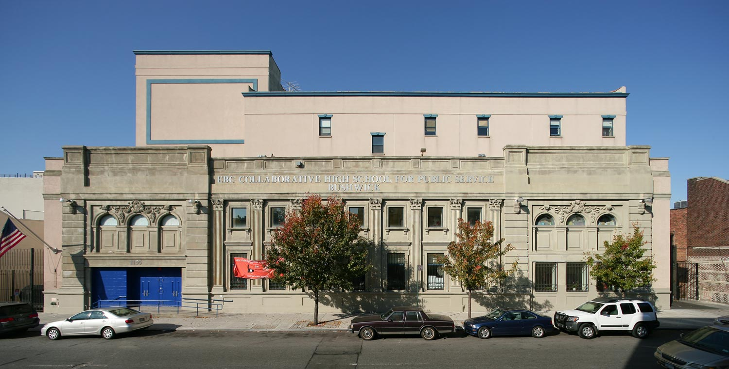 OCV Architects converted a former vaudeville theater into a high school for 800 students.