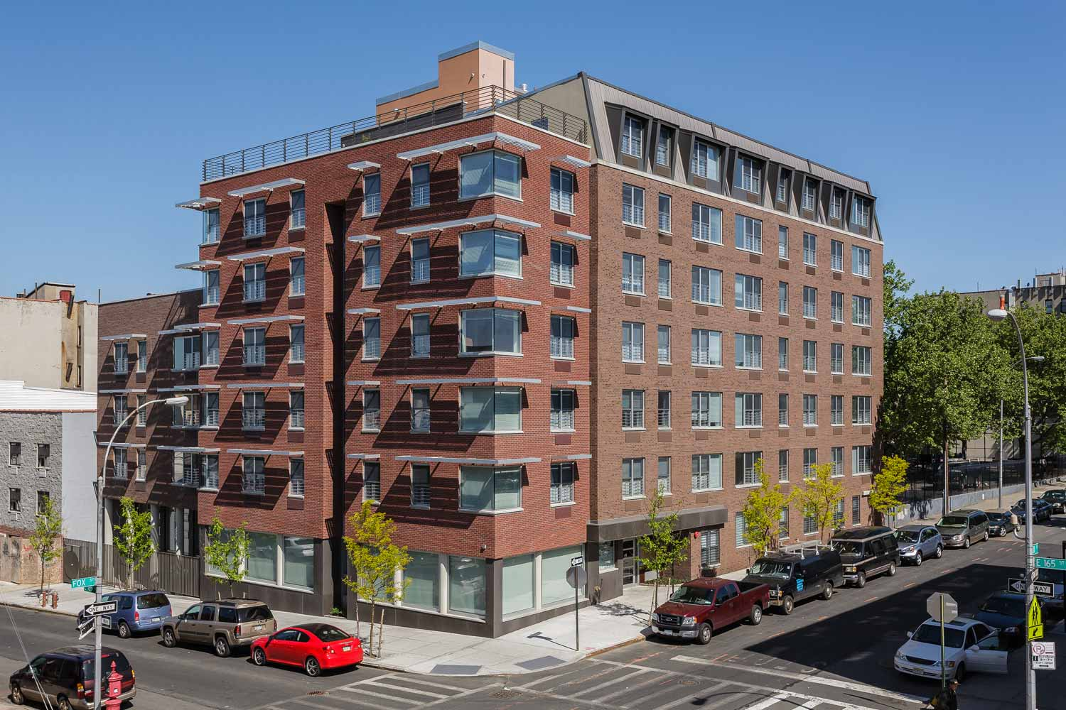 Award-winning LEED Gold project by OCV Architects providing affordable housing to formerly homeless and low-income individuals.