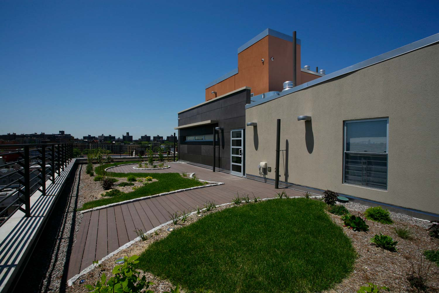 OCV designed several levels of green spaces, including two rooftop terraces.