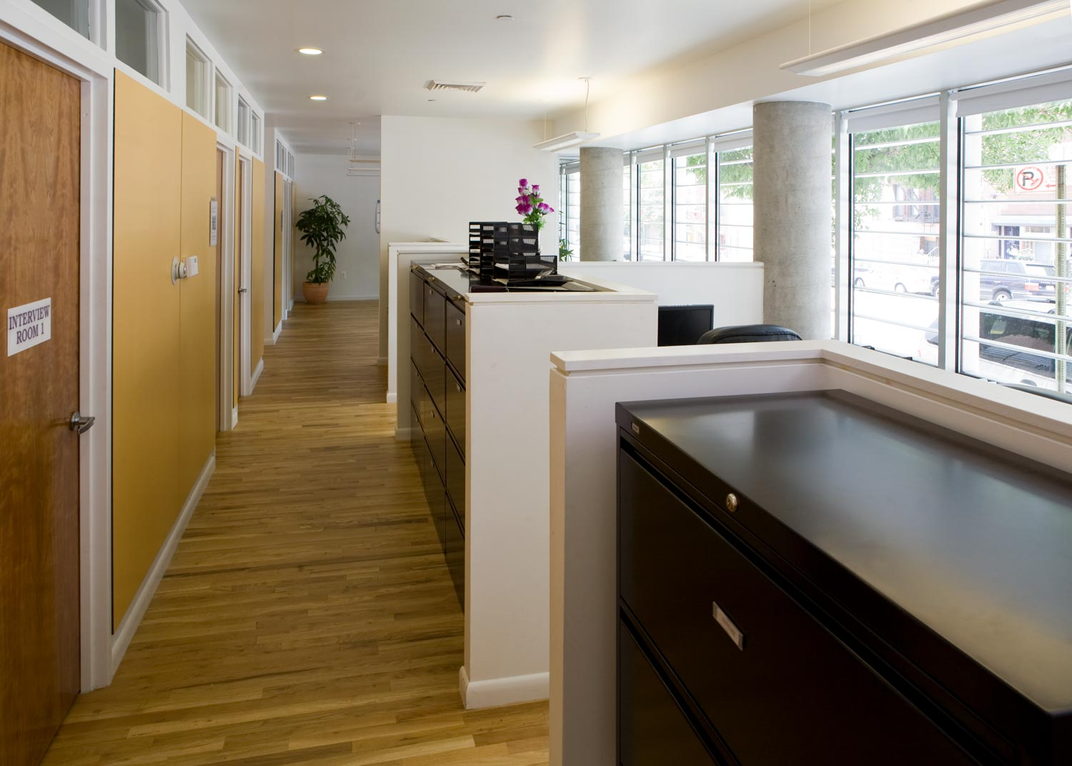 Social services office on site provide residents with opportunities for therapeutic interventions.