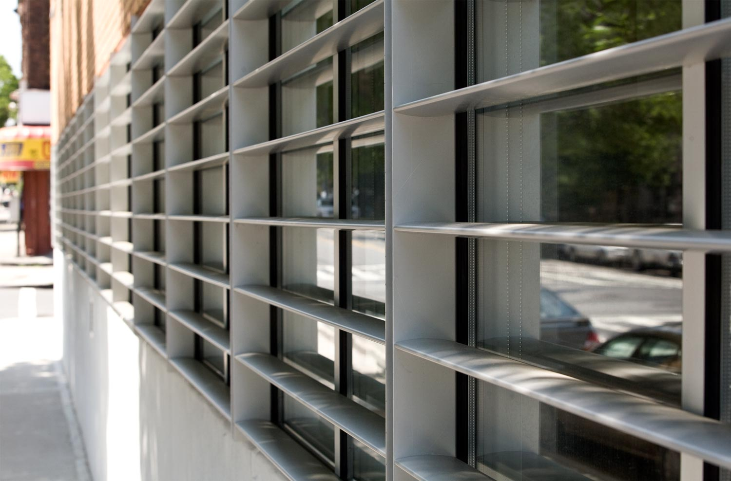 Among the sustainable features is a Trespa rain screen and aluminium sunscreen.