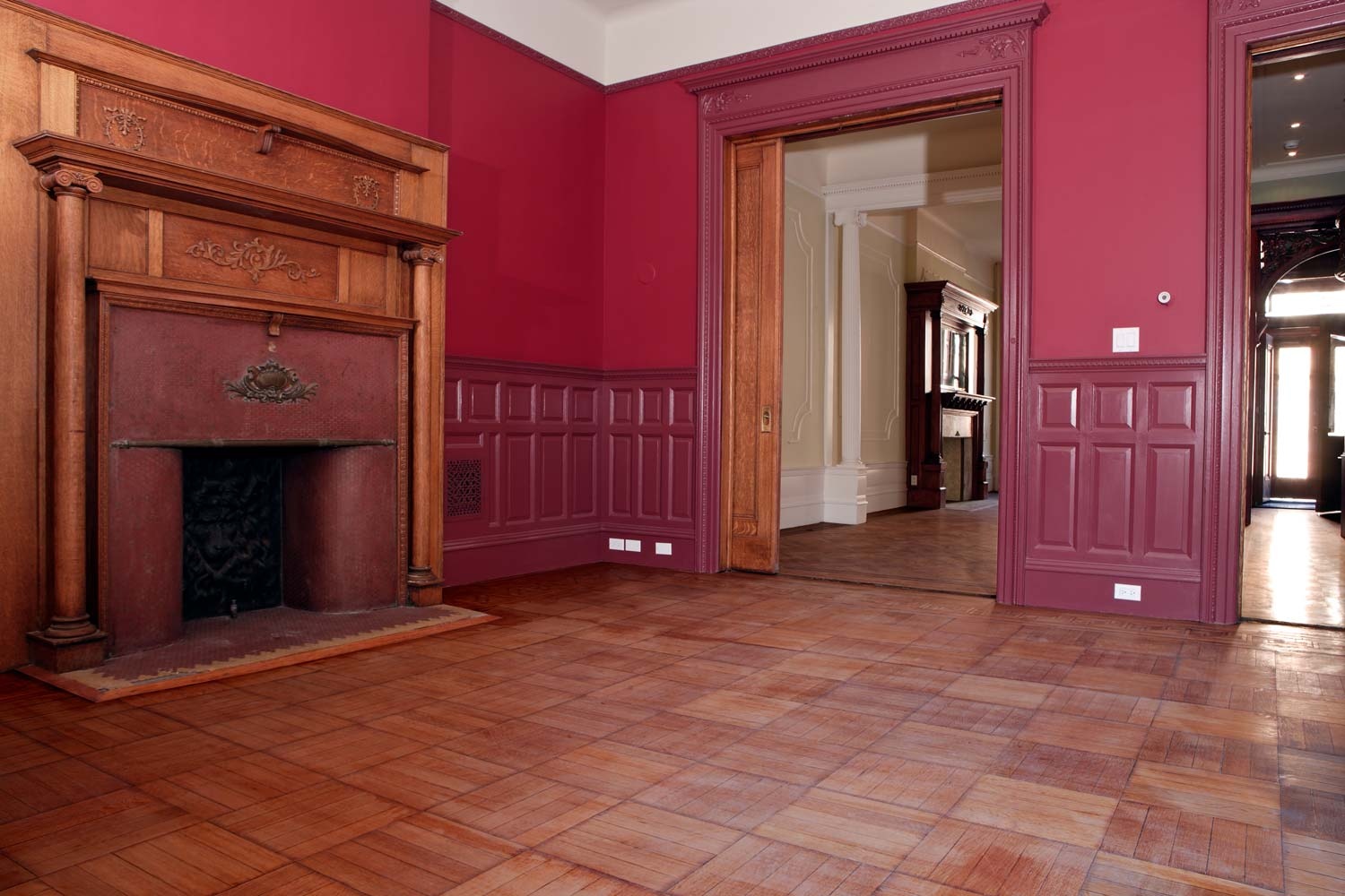 OCV meticulously restored wood details and decorative elements.