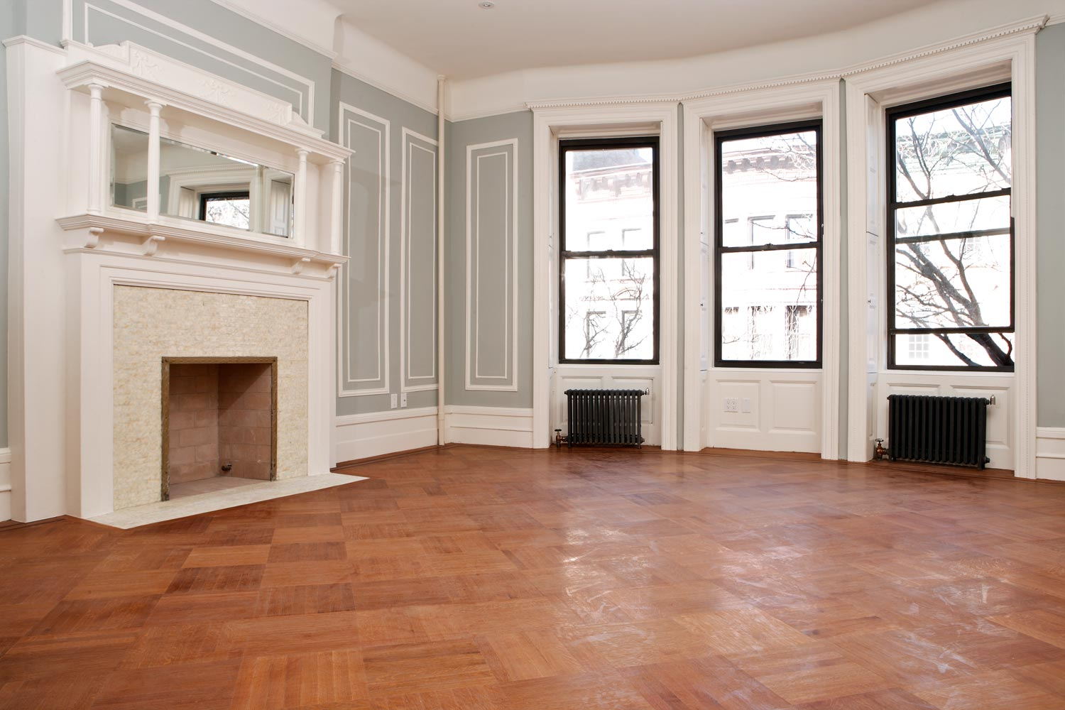 Details were meticulously restored to their original condition at this Historic Brownstone in Harlem