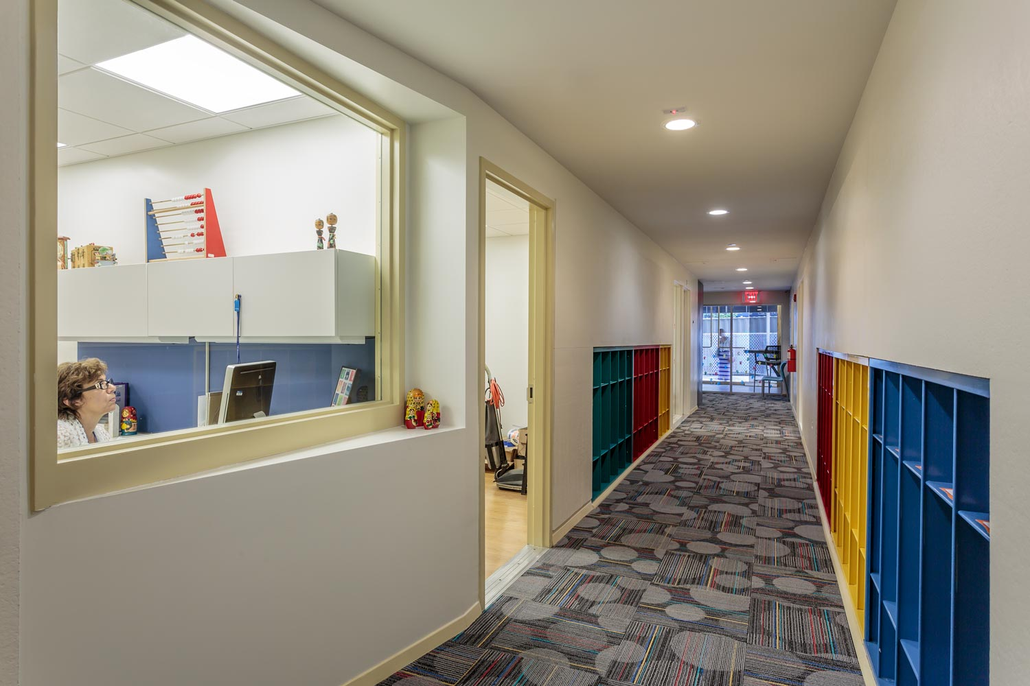 Big picture windows were introduced at the International Preschools adaptive reuse project