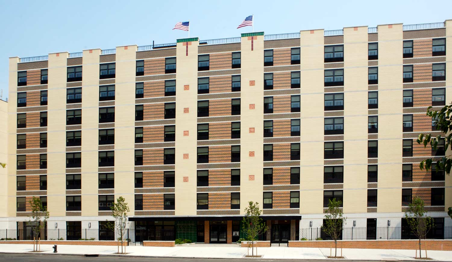 Jacob's Place combines affordable apartments with ground floor day care in an 8-story new construction.