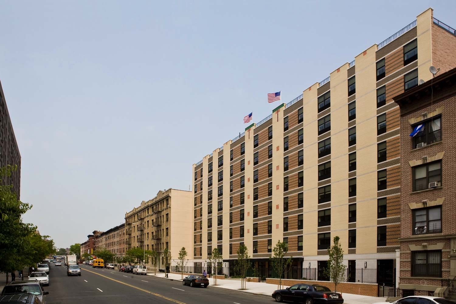 The building's Art Deco design revives the historical flavor of the Crotona section of the Bronx.