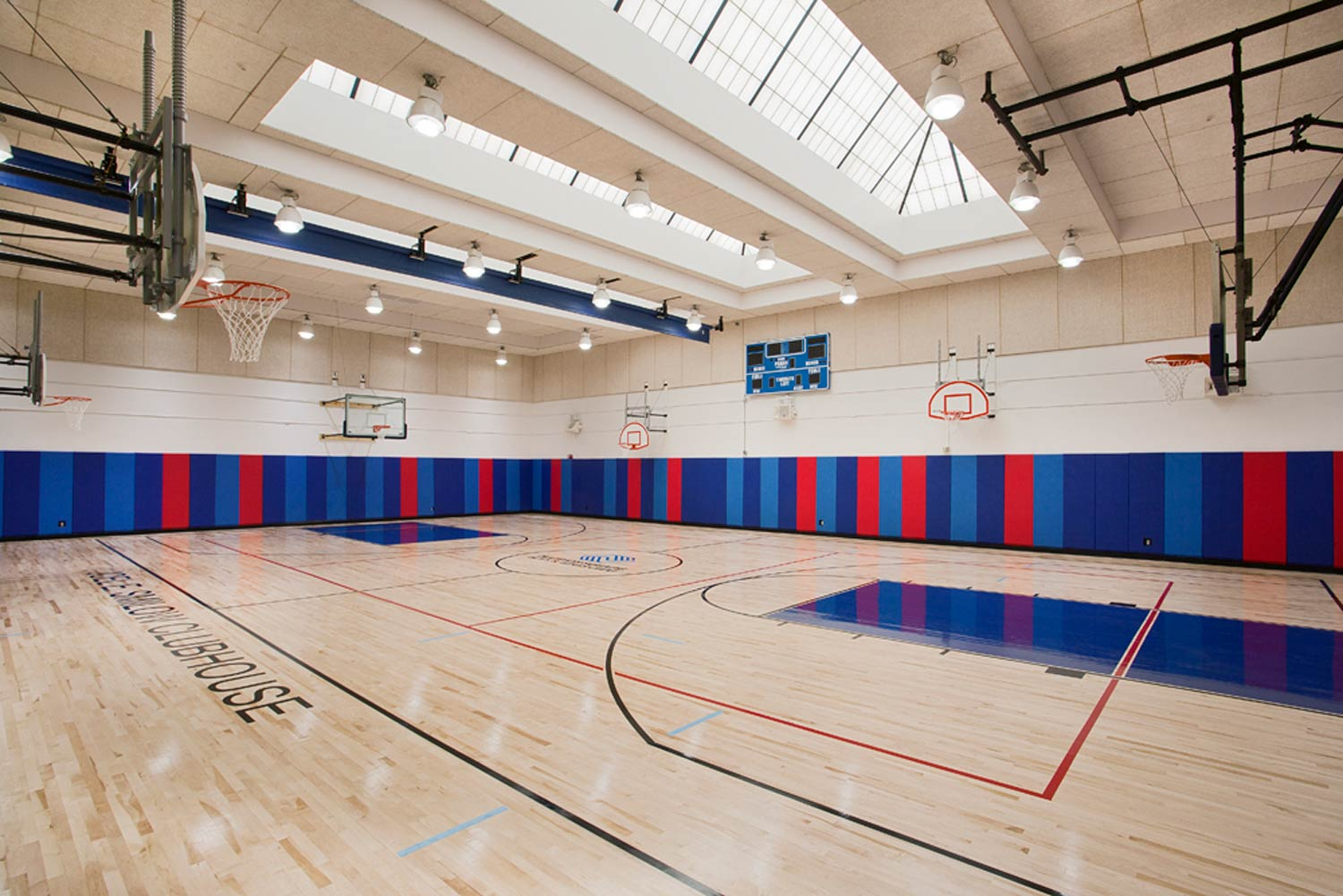 Gym at the Smilow Clubhouse Boys & Girls Club