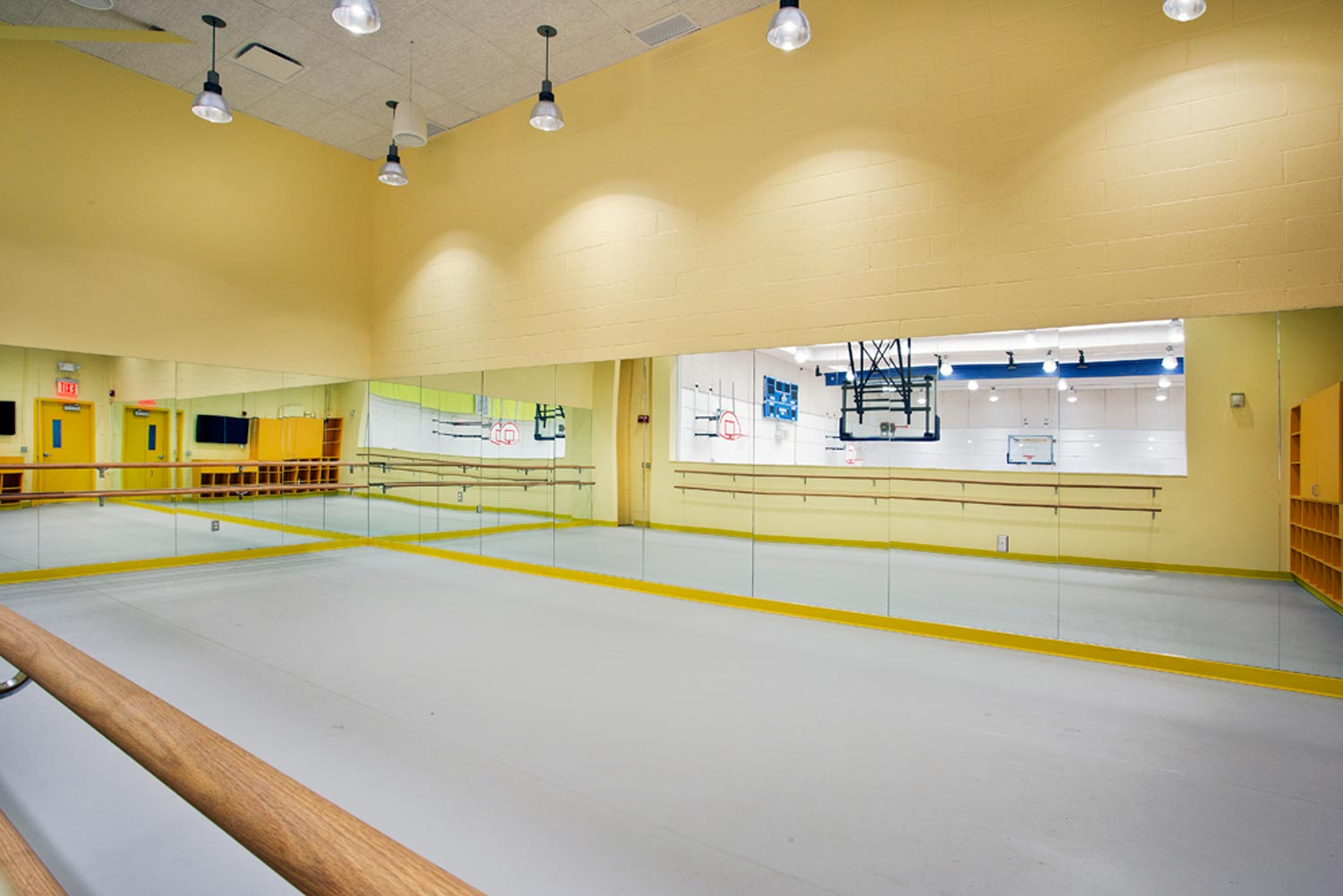 Dance studio at the Smilow Clubhouse Boys & Girls Club