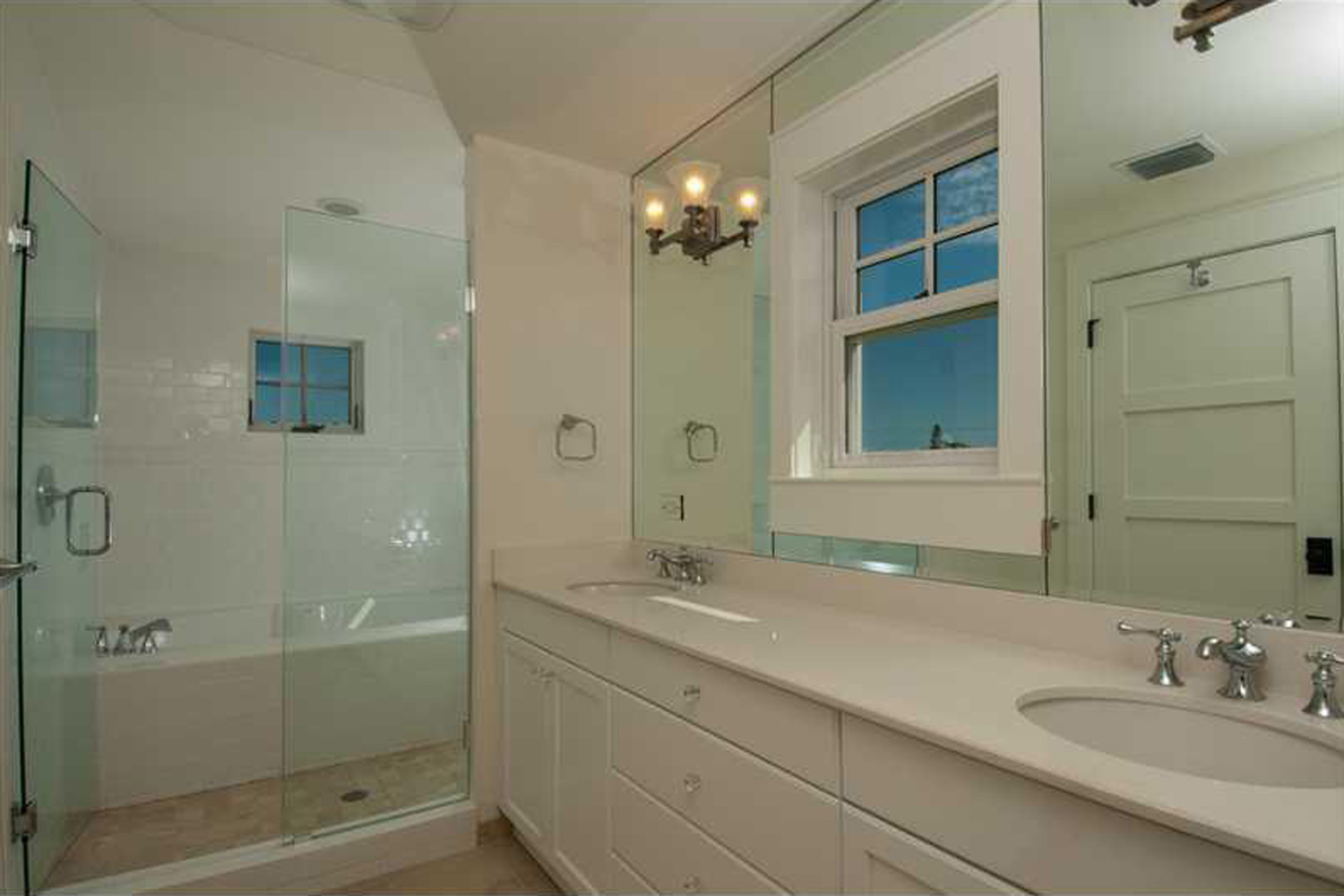 Bathroom at the St. Pete Beach house by OCV Architects.