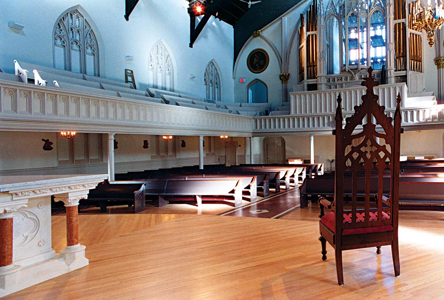 Saint Teresa's Church was historically renovated and restored after a ceiling collapse