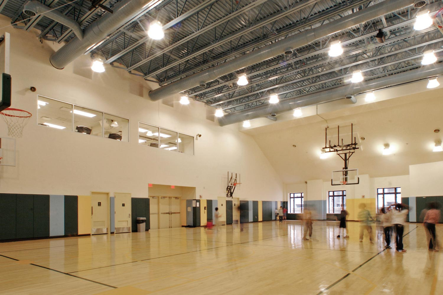 Added to the building were a regulation-size rooftop gymnasium and outdoor playground.
