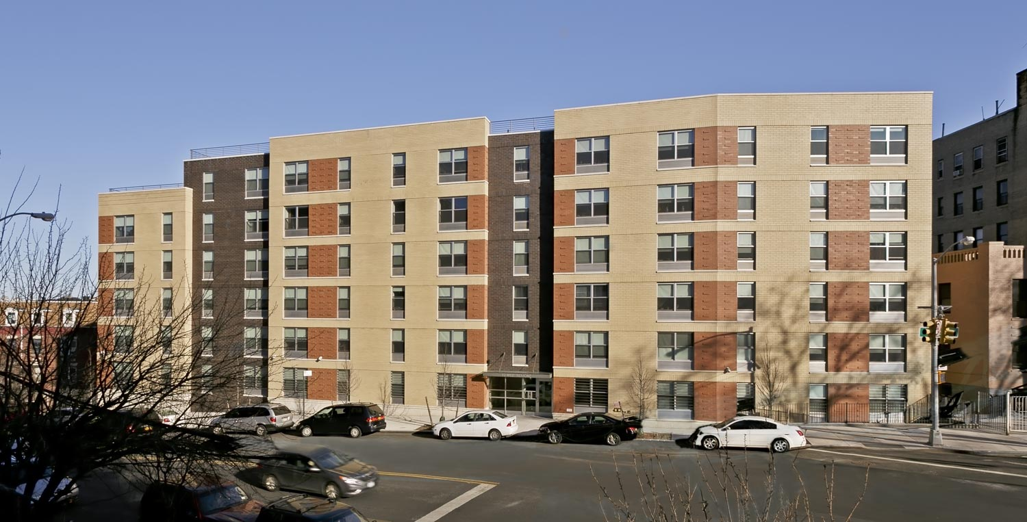 West Tremont Residence is affordable LEED Silver senior housing by OCV Architects.