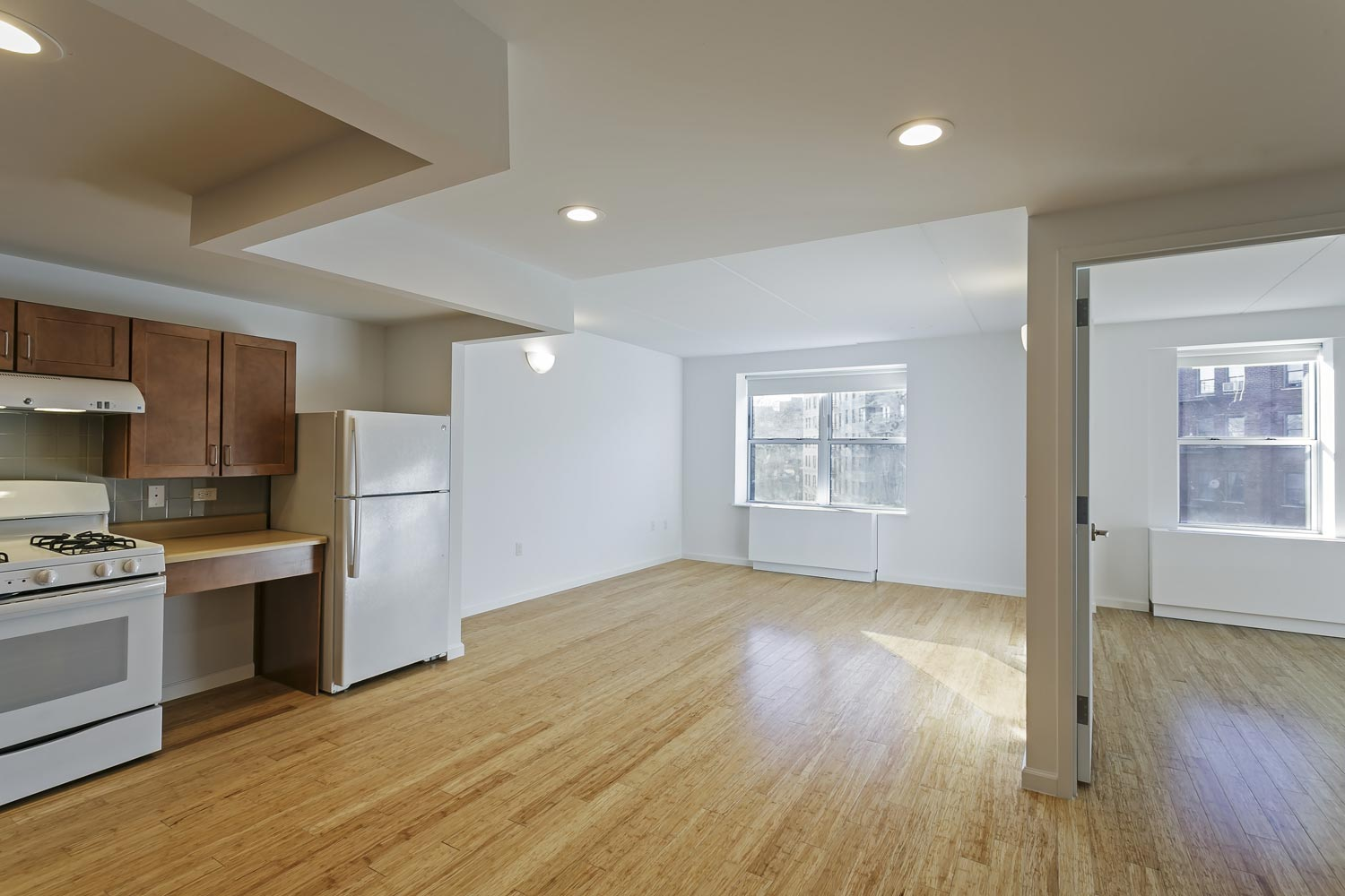 Apartments are designed with open plans and are fully accessible to persons with disabilities.