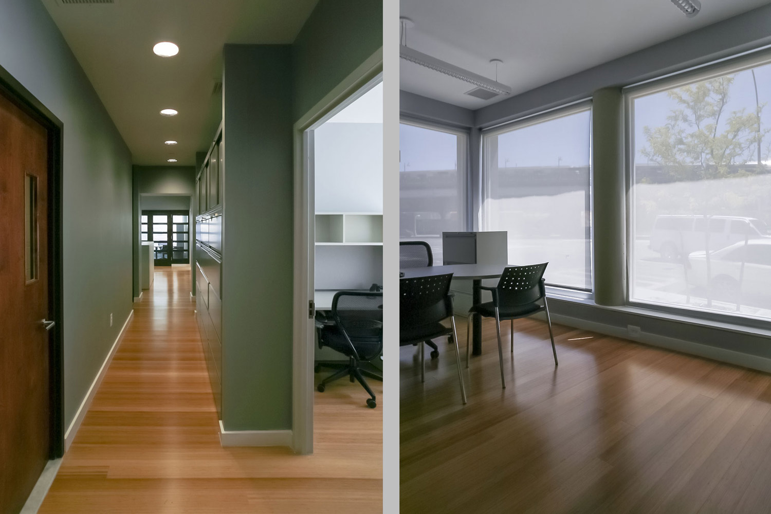 Support facilities for Fox Point tenants include ground floor social service offices.