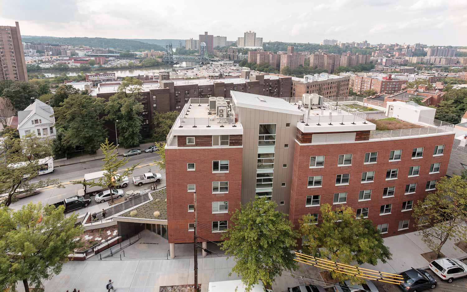 Kingsbridge Terrace Veterans' Residence offers green supportive housing to veterans in the Bronx.