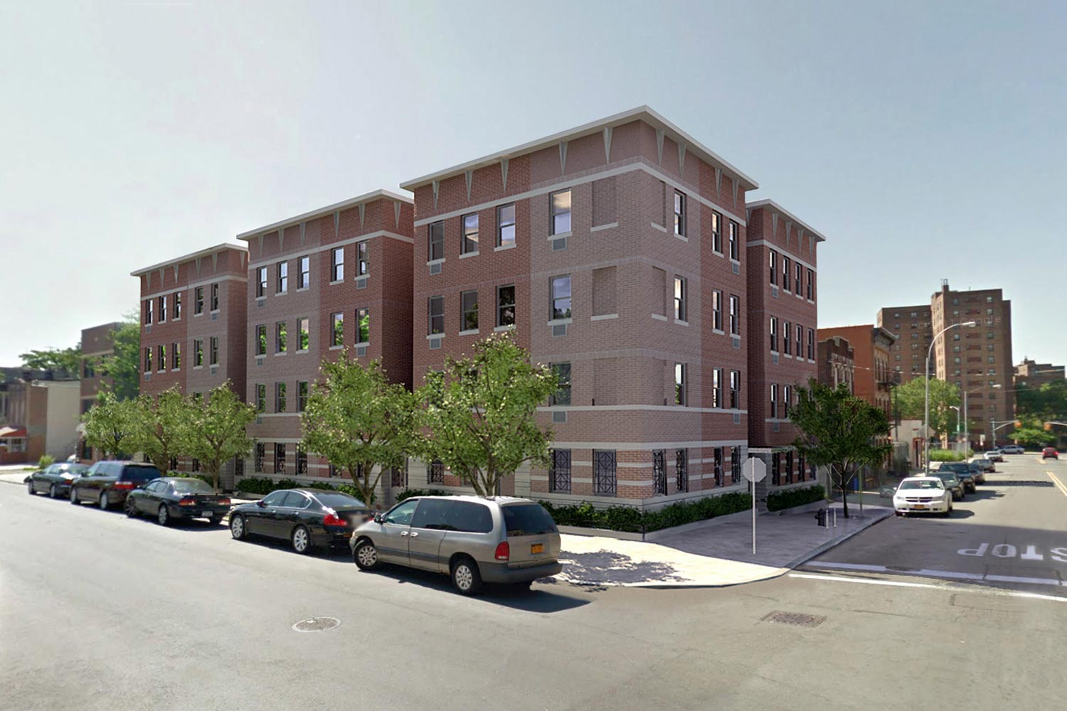 Habitat-NYC project creating green, affordable, two-bedroom condominiums in four buildings in Brooklyn.