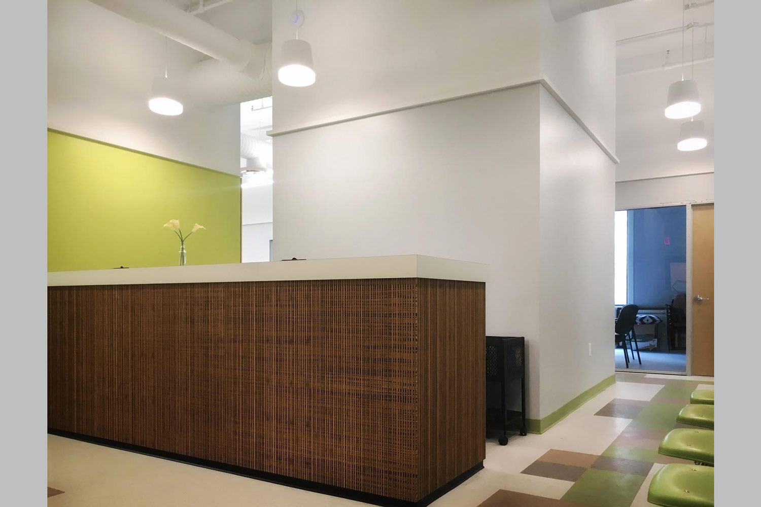Corporate headquarters build-out by OCV Architects for Community Counseling & Mediation.