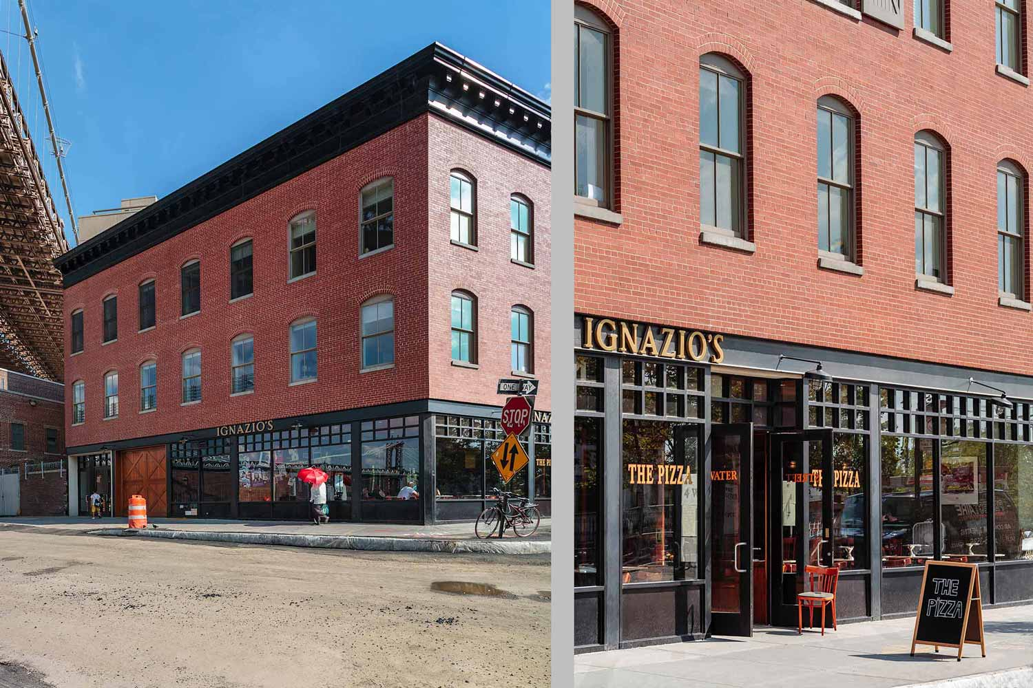 NYC Landmarks Preservation Commission-approved historic rebuild fully glazed storefront.