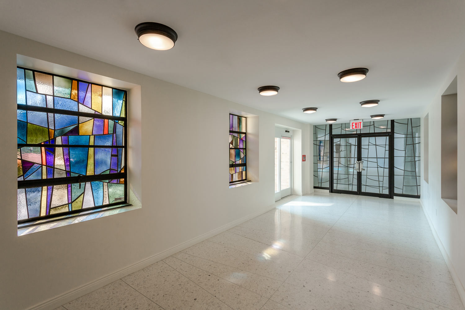 An entry foyer connects the chapel with the converted convent at Serviam Heights