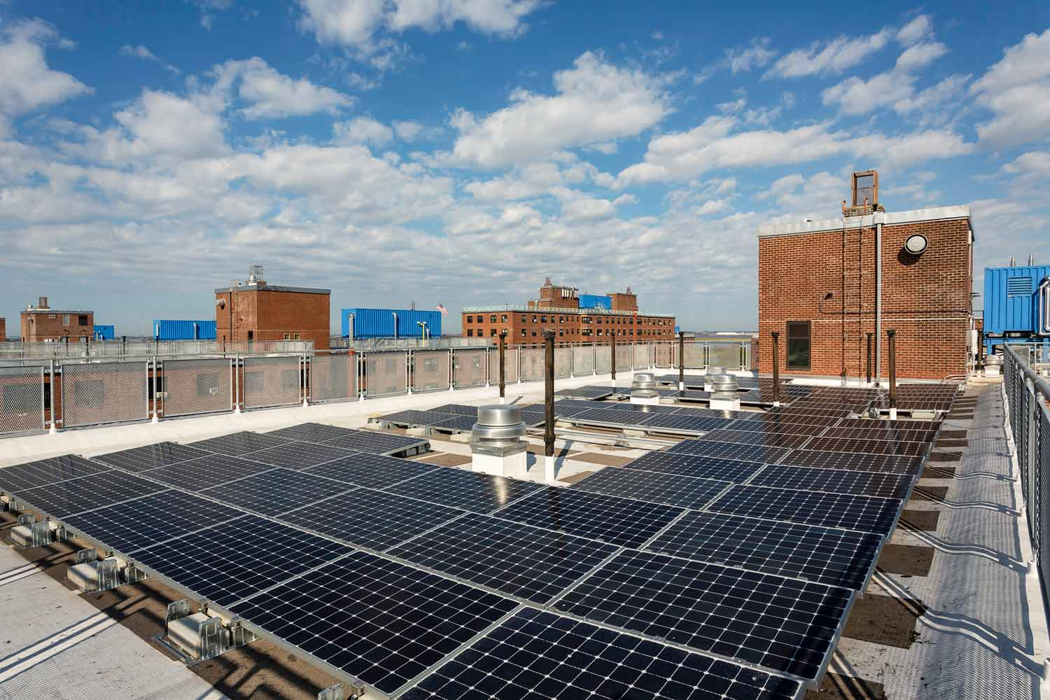 Resiliency design at Ocean Bay-Bayside Apartments included solar roof panels