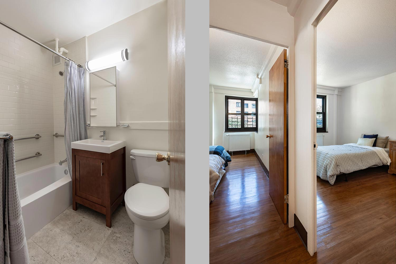New kitchens, bathrooms, and finishes were introduced into apartments.