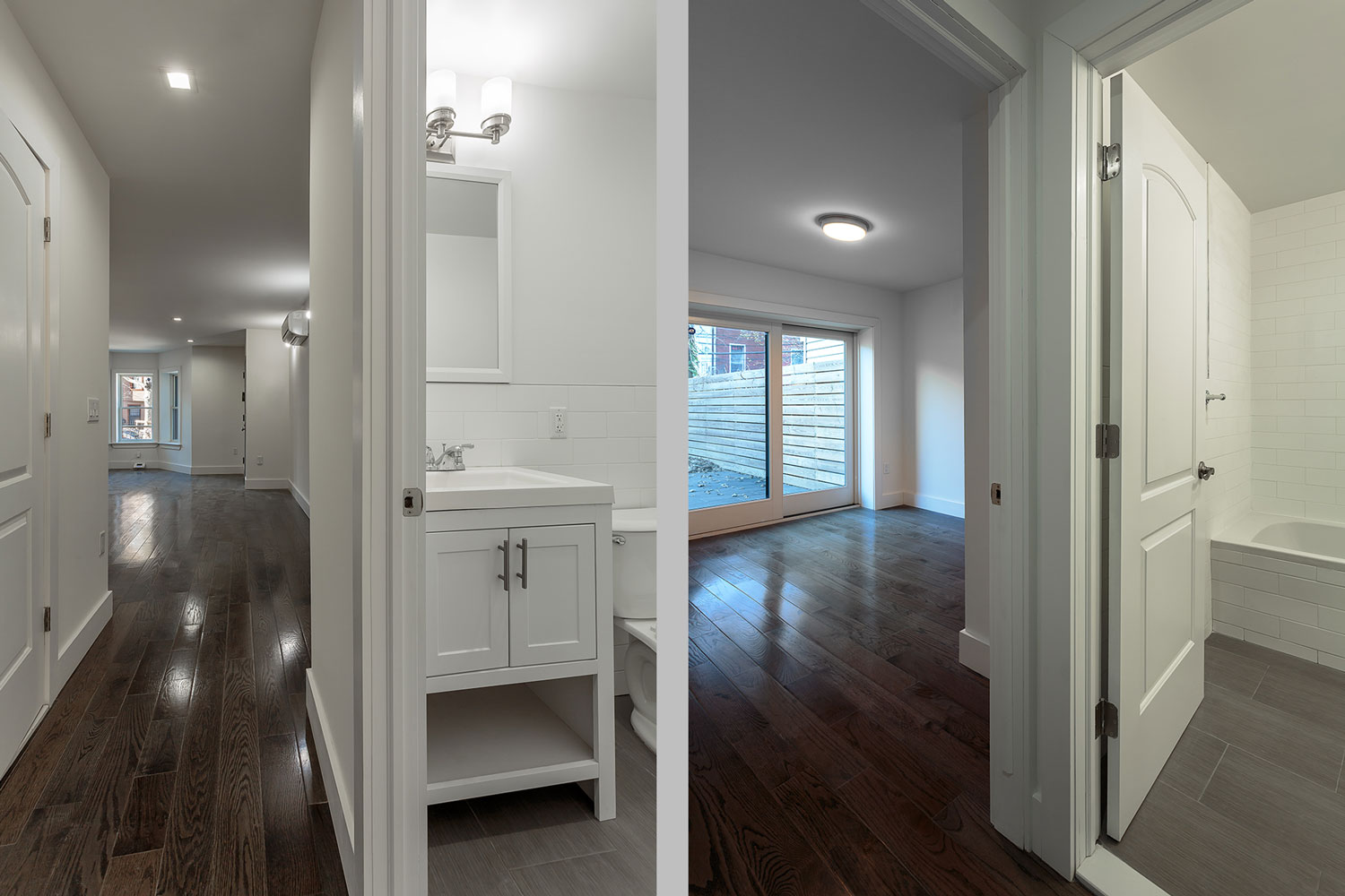 Each apartment at this Decatur Street townhouse renovation has two bathrooms and in-unit laundry