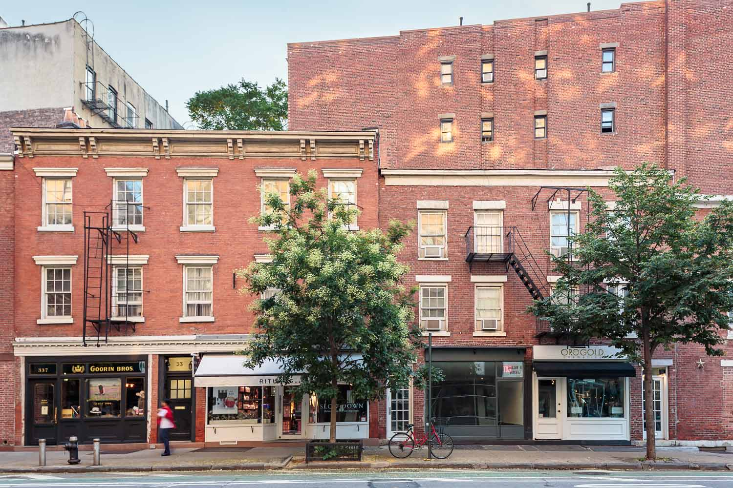 Reconfiguration and historic renovation of Landmarks storefronts on Bleecker Street in the West Village