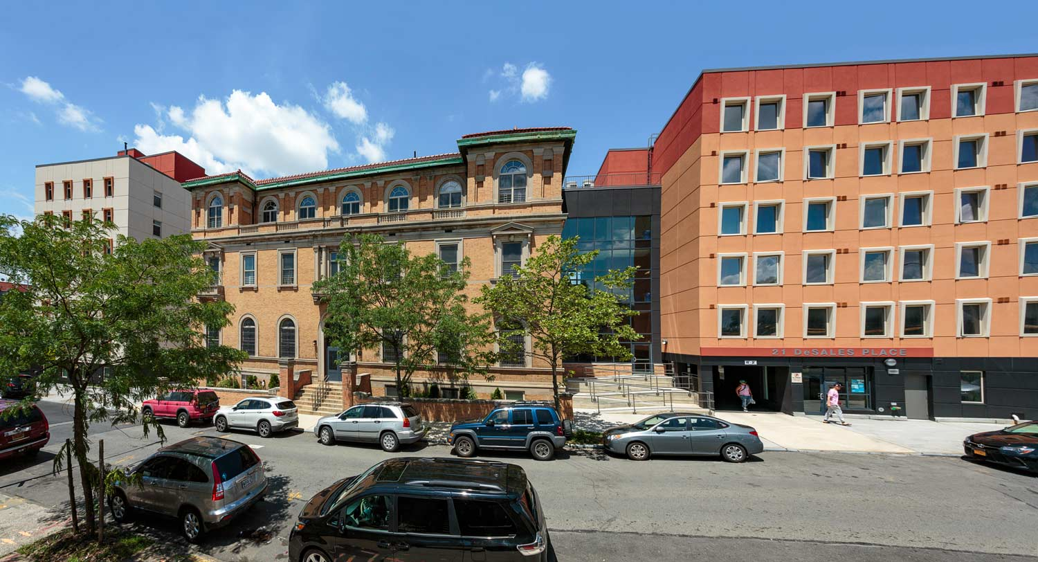 Our Lady of Lourdes Apartments combining new construction with rehabilitation and adaptive reuse