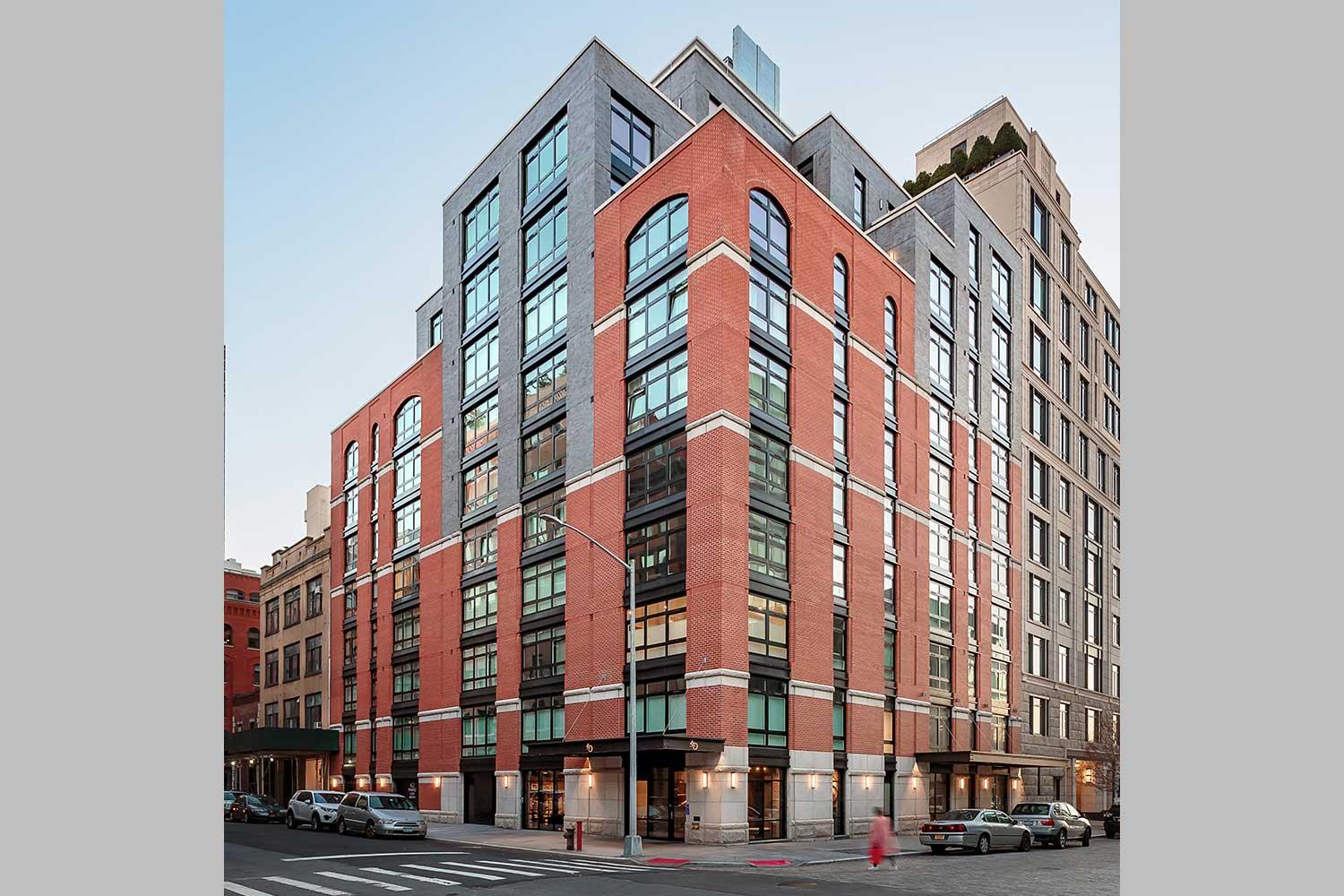 OCV Architects designed Ponte Residences in the Tribeca historical manufacturing architectural style.