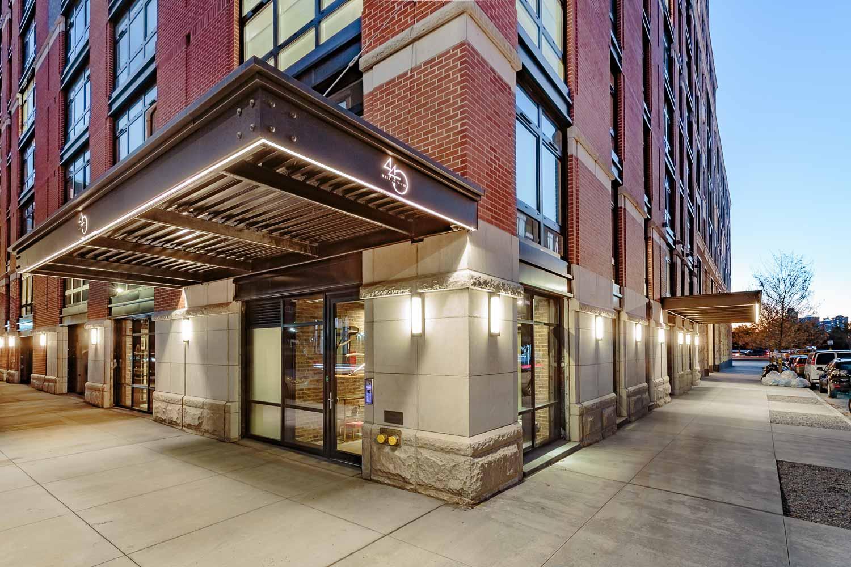 Entry canopy at Ponte Residences, 440 Washington Street, Tribeca