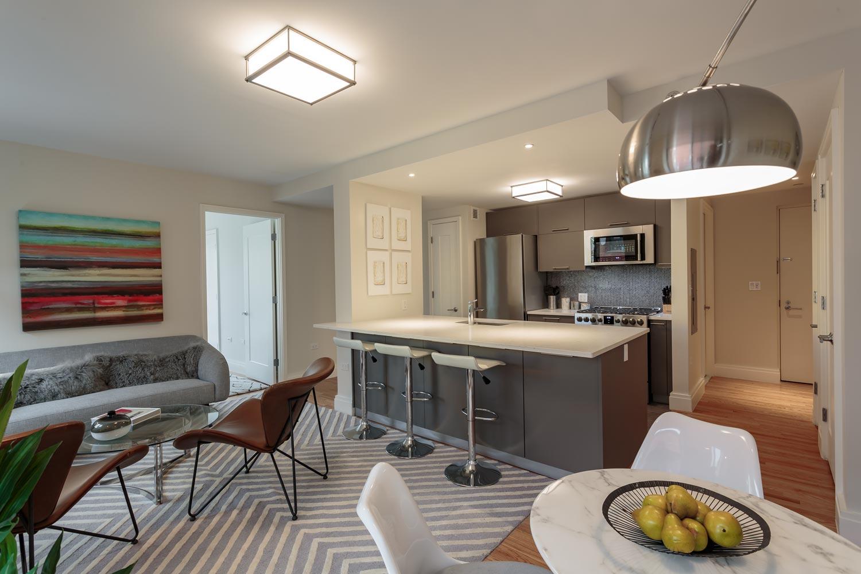 Each unit at The Milo features open kitchen living spaces.