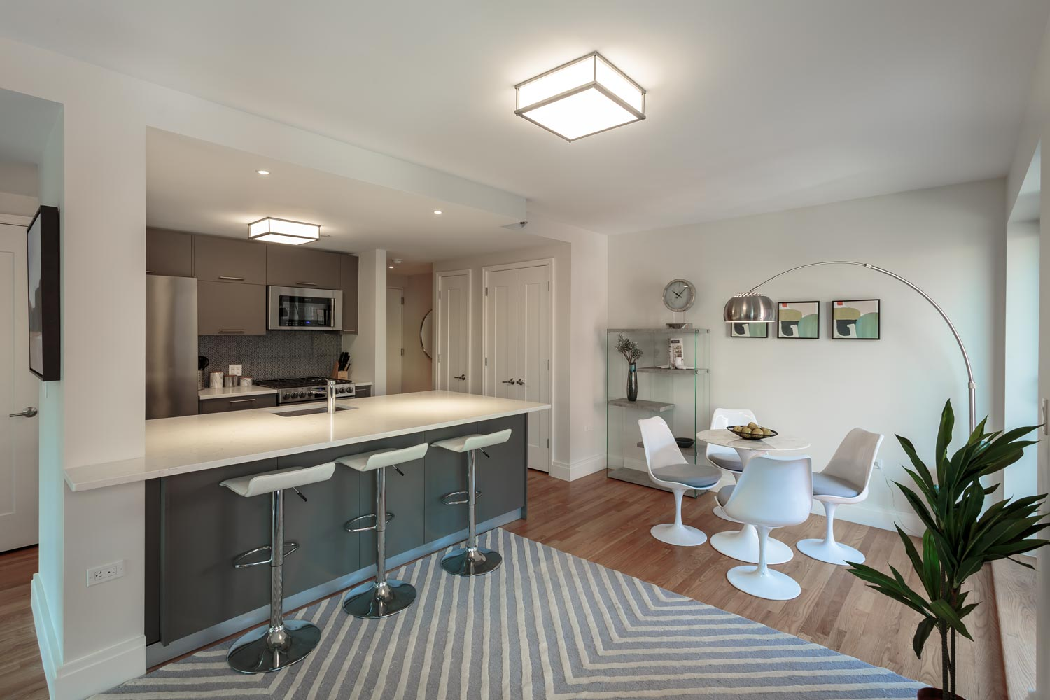 Each unit at The Milo features open kitchens with high end finishes and appliances